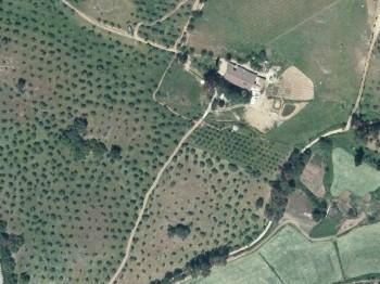 Vista aérea del caserío