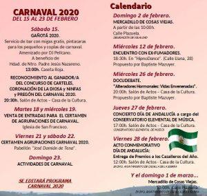Agenda Cazalla de la Sierra Febrero