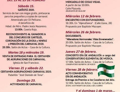 Febrero, mes lleno de actividades en Cazalla de la Sierra